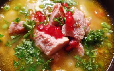 Erbsen-Bohnen-Suppe mit Kassler