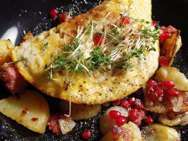 Omelett mit Kartoffeln
