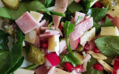 Käse Kochschinken Salat mit Radieschen