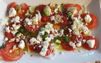 Tomaten Salat mit Feta-Käse