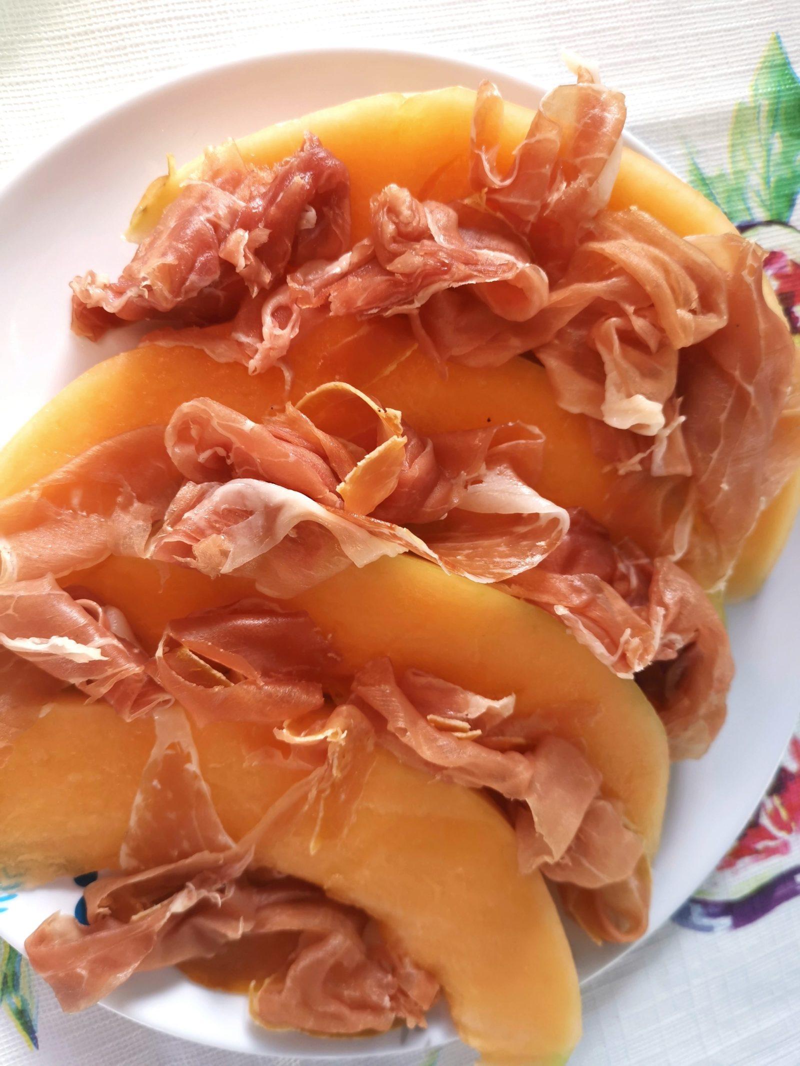 Parmaschinken mit Cantaloupe Melone