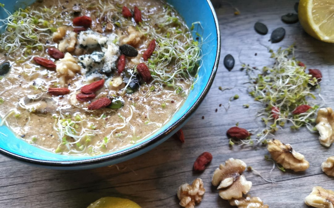 Cremige Gemüsesuppe mit Shiitake