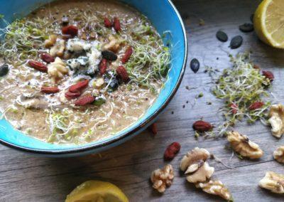 Cremiges Gemüsesüppchen mit Shiitake Pilzen