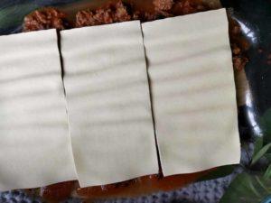 Lasagneplatten mit Bolognese