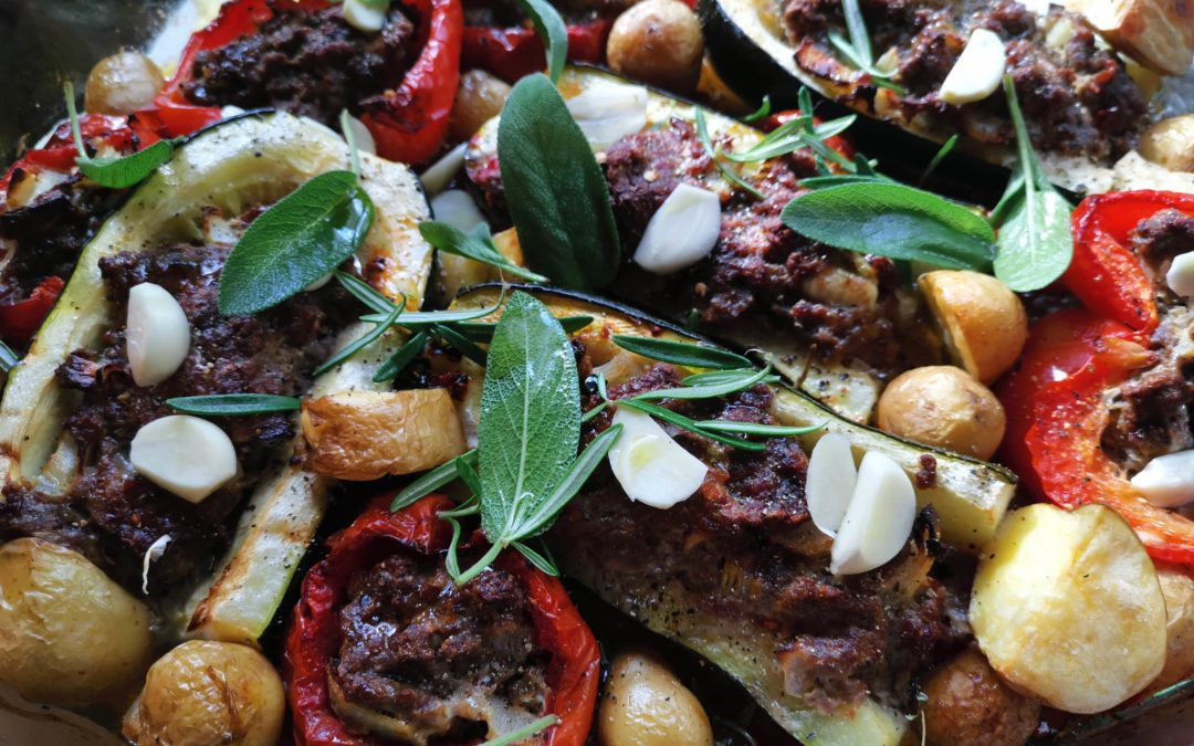 Mediterane Gemüsepfanne aus dem Ofen