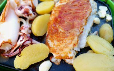 Fisch mit Gemüse vom Grill