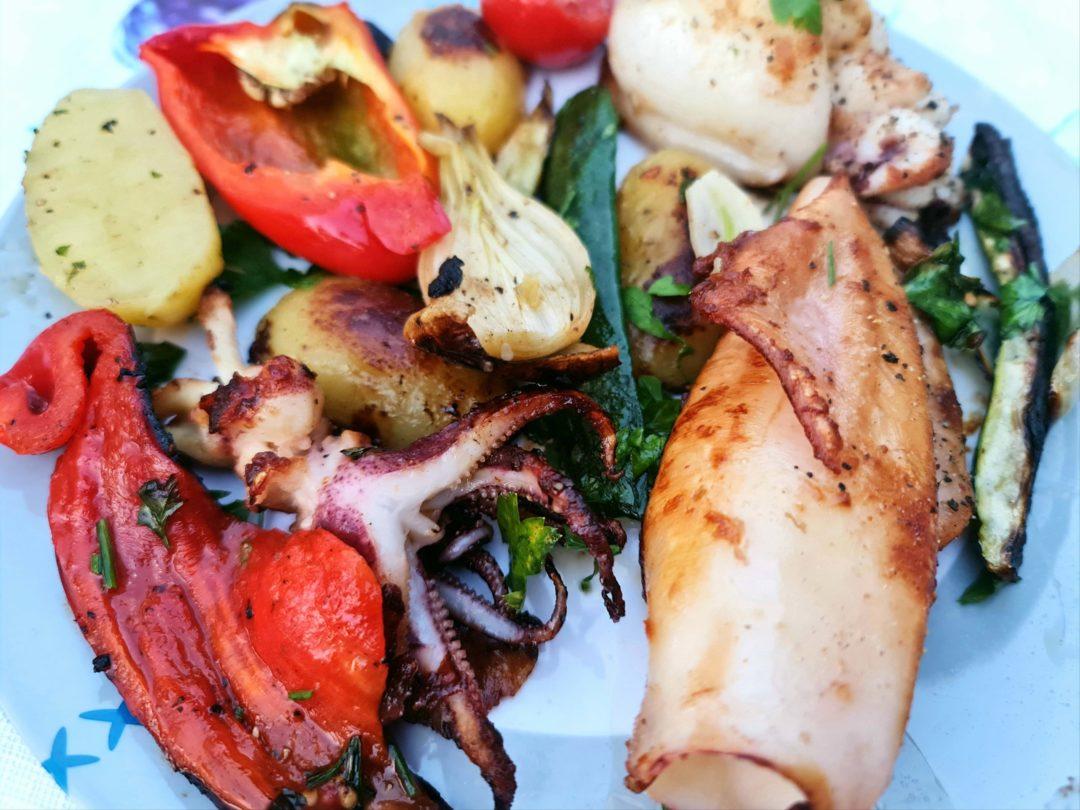 Calamari und Sephia vom Grill