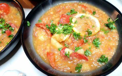 Paprika Kartoffelgulasch mit Linsen