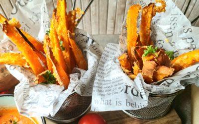 Süßkartoffelpommes aus dem Ofen