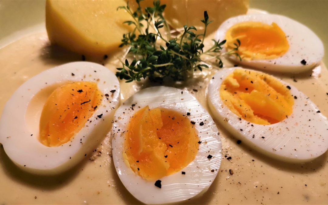 Senfsoße mit Ei