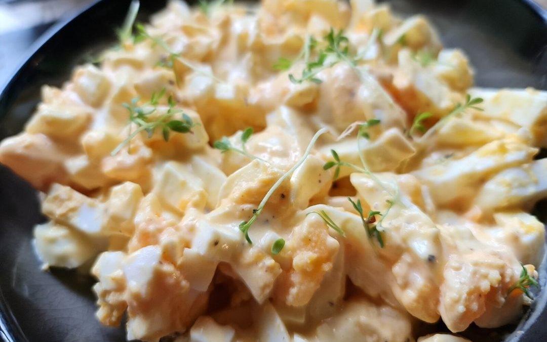 Eiersalat mit selbstgemachter Majo