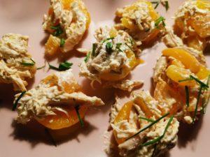 gefüllte Aprikosenhälften